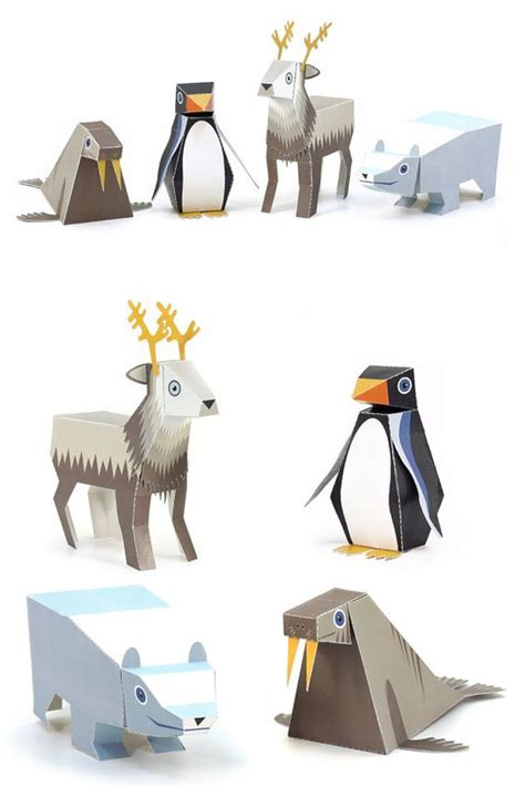 Animals Out Of Paper - animals paper toys diy paper craft kit 3d paper