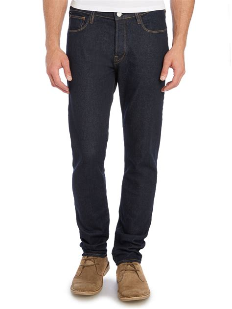 paul smith tapered fit rinse indigo in blue for