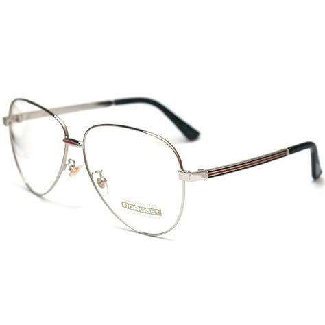 Aviator Metal Eyeglasses Frame encacc aviator clear lens glasses eyeglasses spectacles