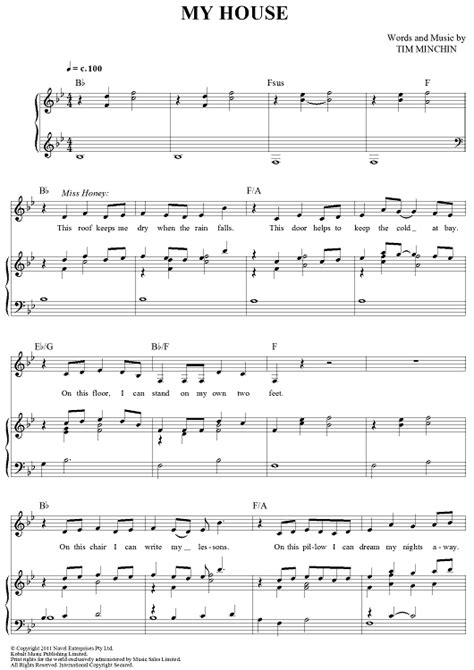 house piano music my house sheet music music for piano and more onlinesheetmusic com
