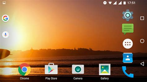 now launcher set to allow home screen rotation