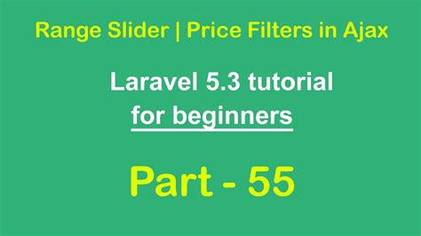 download tutorial laravel 5 range slider price filters in ajax jquery ui