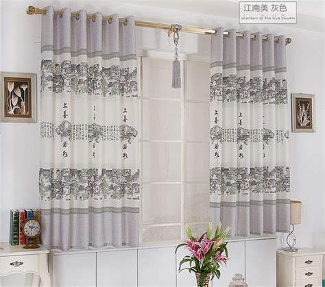 retro style curtains retro style short curtains new chinese style curtain in
