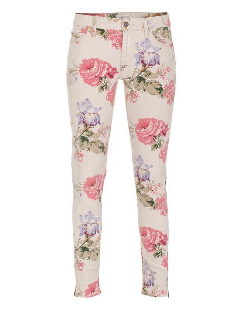 floral pattern skinny jeans denim supply by ralph lauren saba floral beige skinny