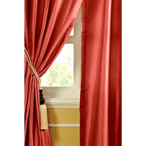 red dupioni silk drapes riva dupioni silk 96 inch curtain panel by cottage home