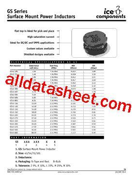 gs43 4r7 datasheet pdf components ins
