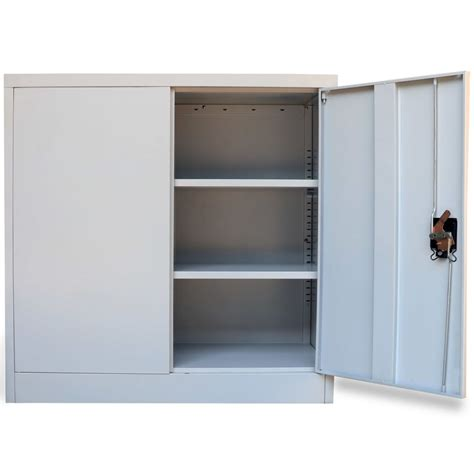 Office Cabinets With Doors Metal Office Cabinet 2 Doors 90 Cm Grey Vidaxl Co Uk