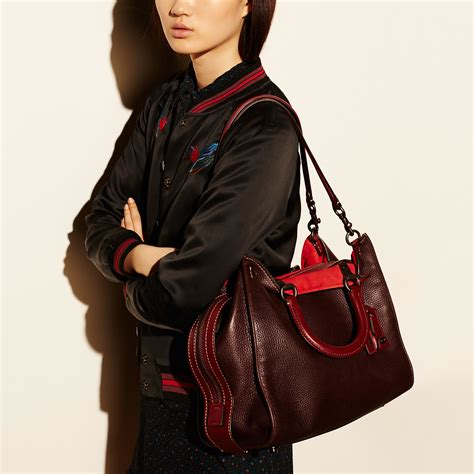 coach rogue bag 36 in glovetanned pebble leather in lyst