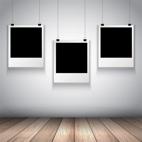hang picture collection of hanging photo frames vector free download