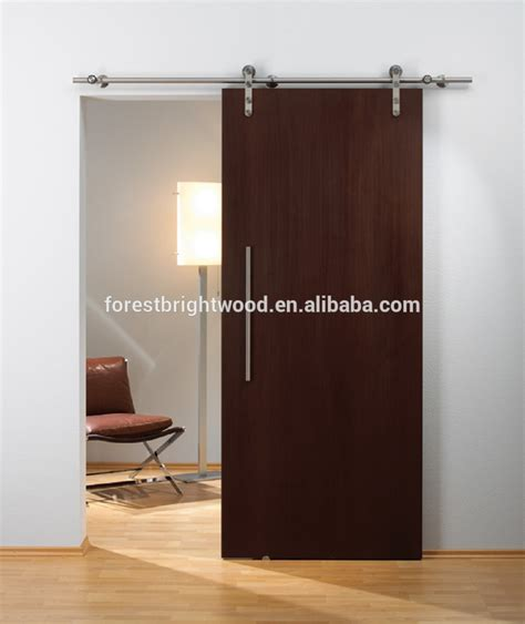 sliding doors for living room veneered walnut finished sliding door for living room