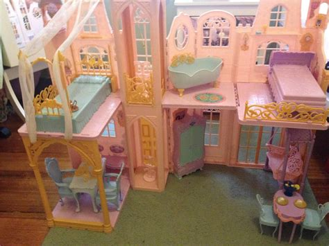 barbie princess doll house barbie doll princess the pauper fantasy castle large doll house furniture ebay