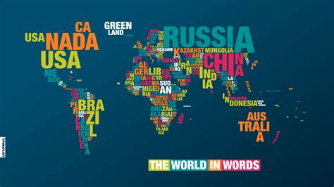 typography world map typography map