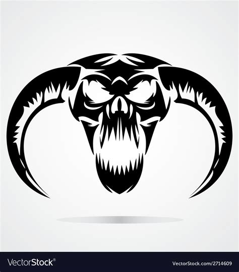 scary demon skulls royalty free vector image vectorstock