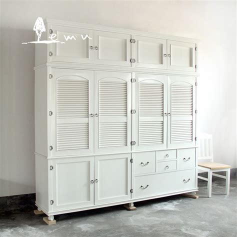 Solid Wood White Wardrobes by American Santorini Mediterranean To Do The White