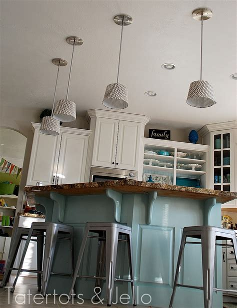 Diy Kitchen Lighting Make Diy Pendant Lights Kitchen Remodel Project Tatertots And Jello