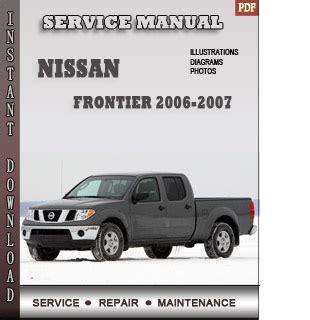 2006 2007 nissan armada service repair manual 2006 2007 nissan frontier service repair manual