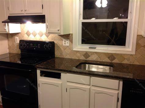 Kitchen Cabinets Baltimore by Remedios B Tan Brown Granite Countertop Amp Backsplash