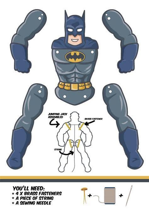 batman jumping jack template puppets pinterest
