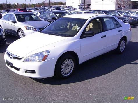2006 honda accord value 2006 taffeta white honda accord value package sedan