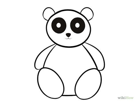 Panda Outline Drawing by Free Panda Outline Free Clip Free Clip On Clipart Library