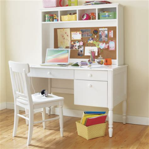 Childrens White Wooden Desk by