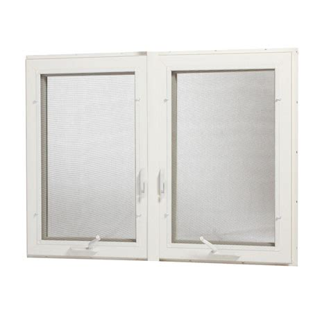 home depot awning windows tafco windows 48 in x 48 in vinyl casement window with screen white vc4848 lr