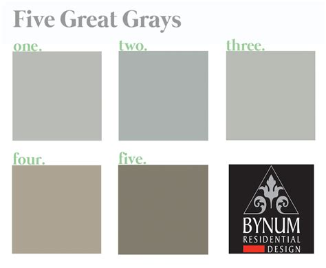 5 great gray paint colors bynum design