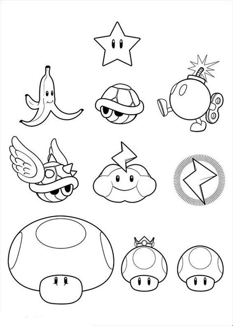Coloring Pages Of Mario Kart Characters Diannedonnelly Com Printable Characters