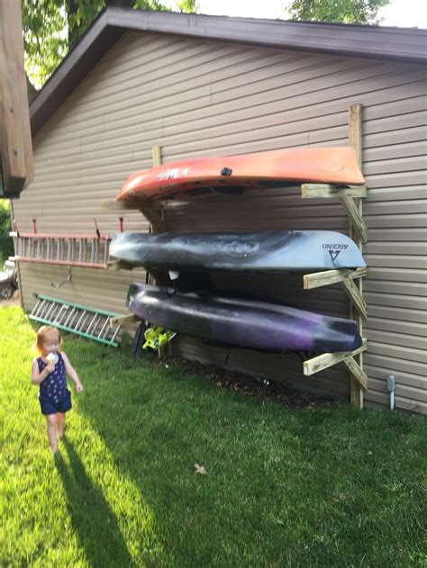how to build a boat storage rack kayak storage cing river pinterest storage ideas