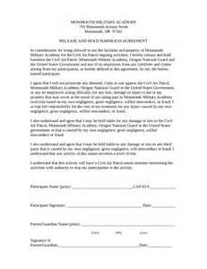 hold harmless template doc 400518 sle hold harmless agreement hold