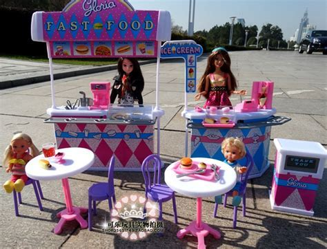 Girl birthday gift for barbie doll house furniture Kitchen