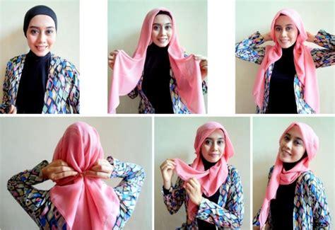 10 tutorial hijab paris segi empat terbaru untuk pesta 10 gaya hijab segi empat yang beda buat pipi chubby