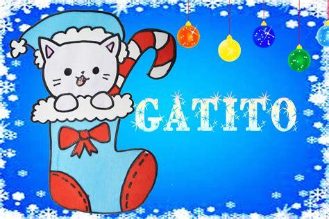 imagenes de dibujos de navidad kawaii dibuja un gatito navide 241 o en una bota de dulces kawaii