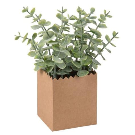 artificial eucalyptus  kraft paper pot maisons du monde