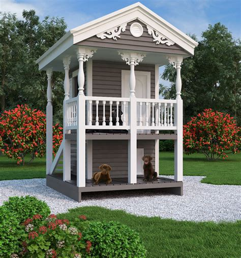 luxury dog house plans luxury doghouse playhouse 9590 the house designers