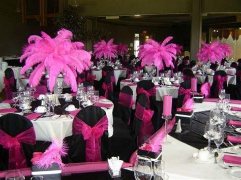 pink and black wedding centerpieces the wedding specialists