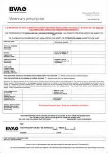 bva veterinary prescription form