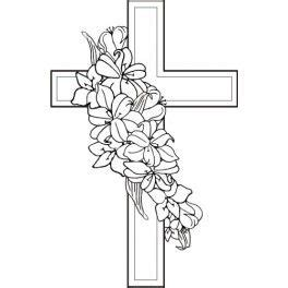 Lily Sympathy Cross  Coloring Pages Pinterest Lilies Crosses And sketch template