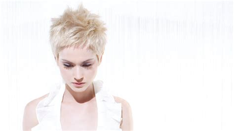 blonde pixie  spiky styling