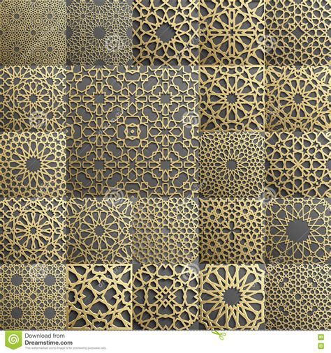 html pattern min max islamic pattern set of 4 ornaments seamless arabic