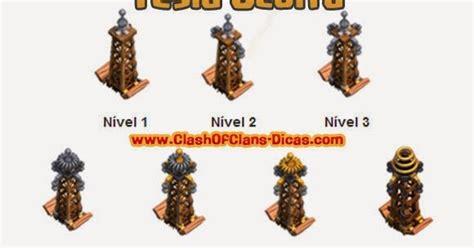 imagenes ocultas clash of clans tesla oculta defesa nivel melhorias e custo clash of