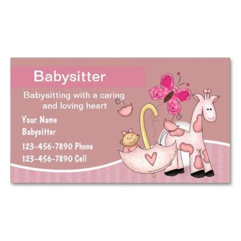 babysitting templates for business cards 140 best images about babysitting business cards on