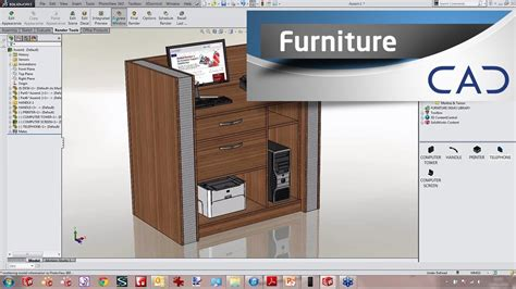 Designing Furniture In Solidworks Youtube Software For Designing Furniture
