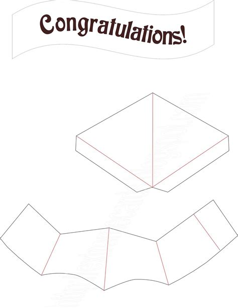 graduation cap template cards and papercrafting graduation cap pop up