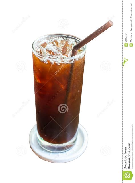 rainforest cafe light up cup iced black coffee stock photography image 36004692