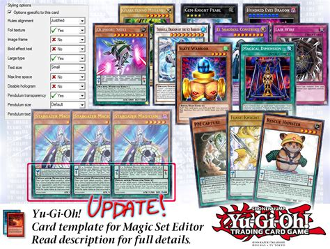 magic set editor card fighters template yu gi oh series9 mse template v1 1 update 2 jan by