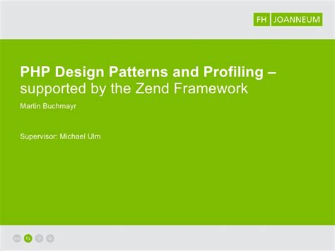 design pattern zend framework zend framework design patterns profiling