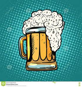 Cool Mug Foamy Mug Of Beer Pop Art Retro Stock Vector Image 72806492