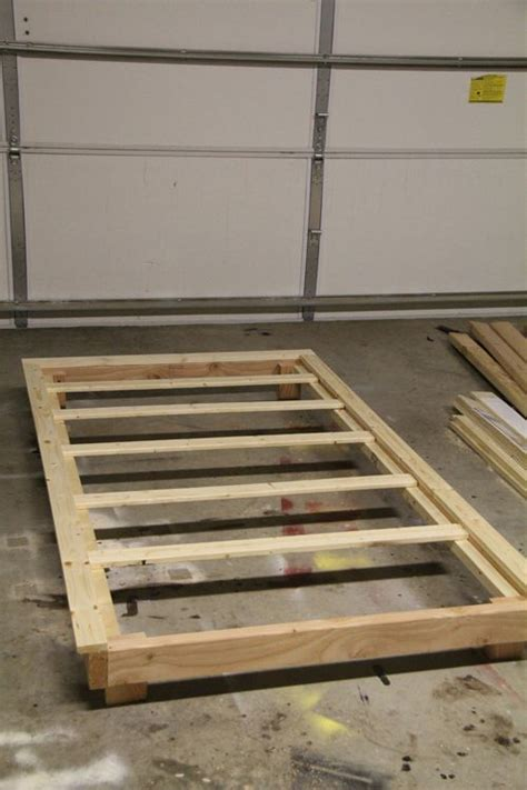 Simple Diy Bed Frame How To Build A Bed Frame With Trundle Woodworking Projects Plans