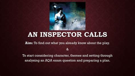 themes in an inspector calls powerpoint ppt an inspector calls powerpoint presentation id 5359045